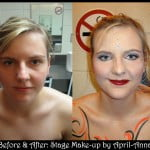 before & after stage makeup