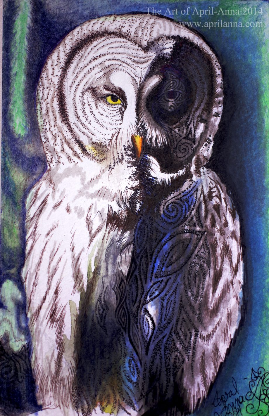 Owl Guardian painting