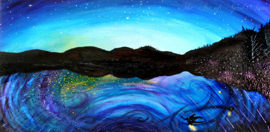 Fireflies in Dawn's Twilight painting