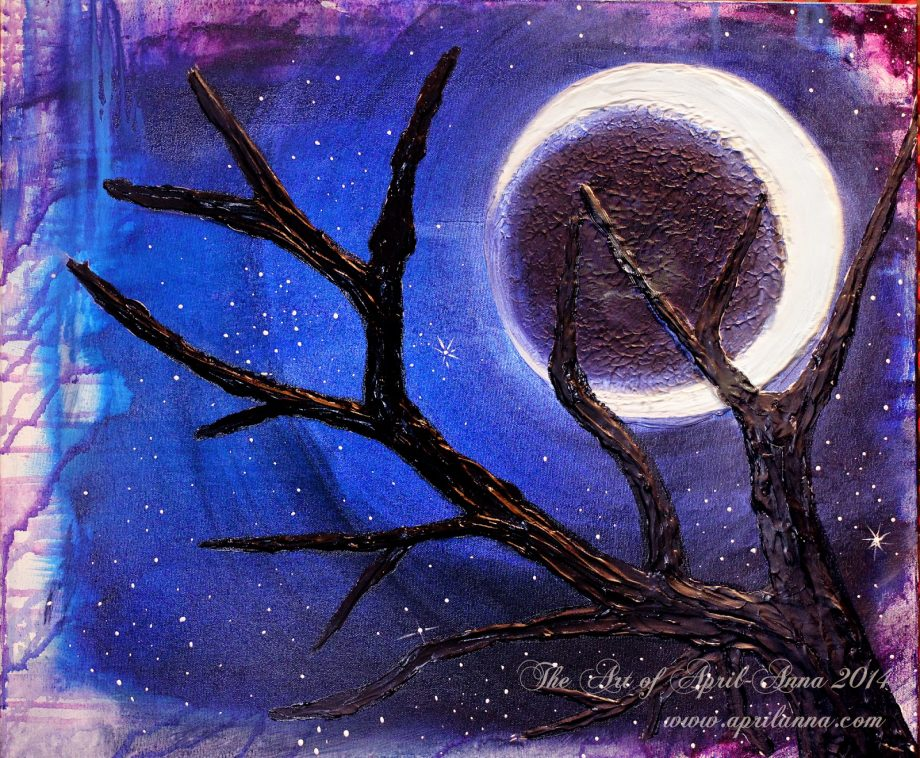 Winter moon painting